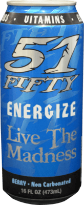 51 Fifty Energize Berry Energy Drink - 16oz Can
